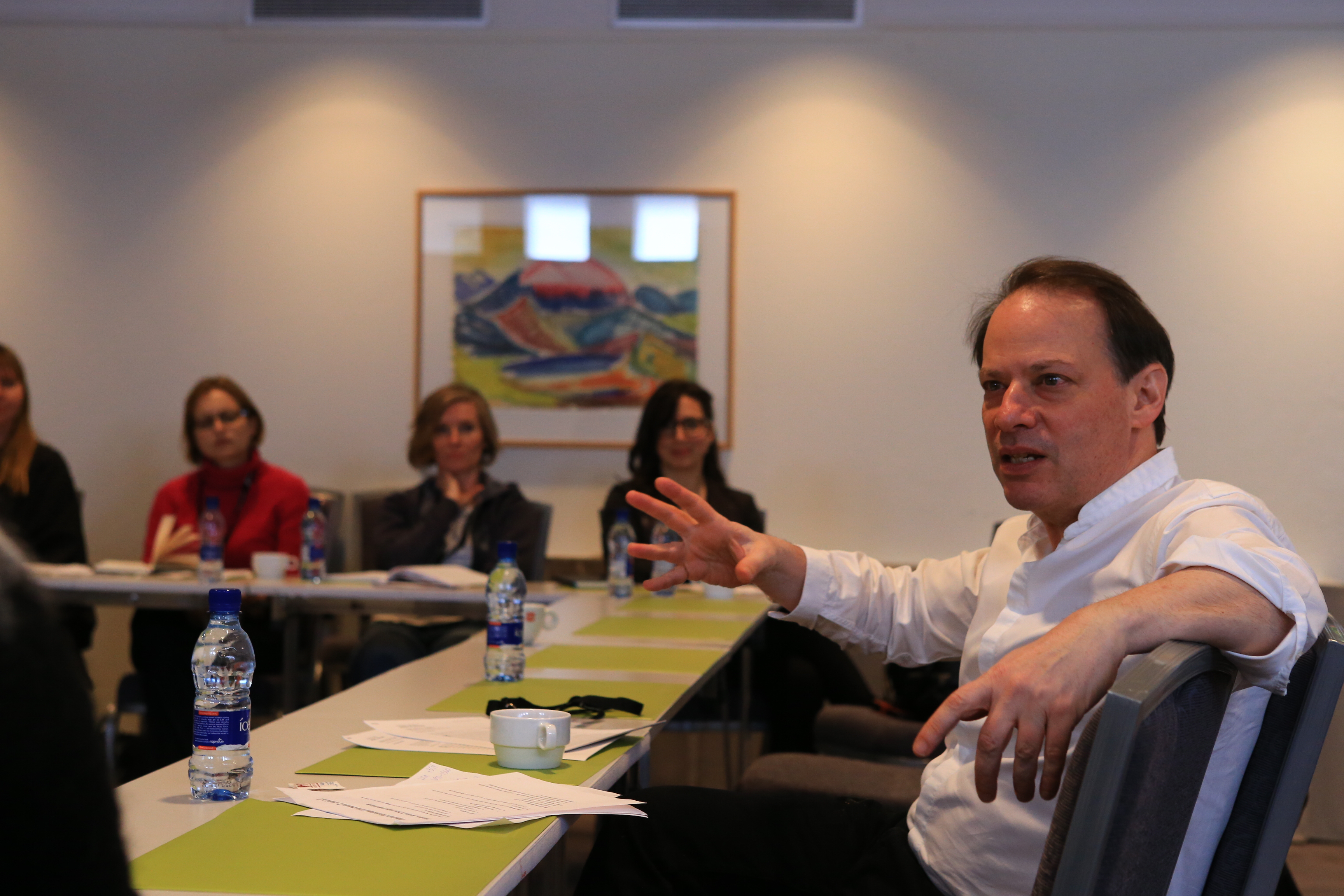 Adam Gopnik leads a workshop during the 2015 IWR.  Photo: Roman Gerasymenko.
