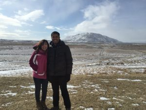 Corrie and Yan in Iceland