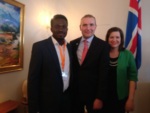Michael with President Gudni Johannesson and First Lady Eliza Reid