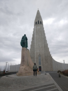 Michael at Hallgrimskirkja