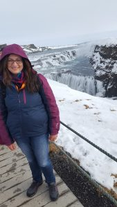 Antoinette at Gullfoss