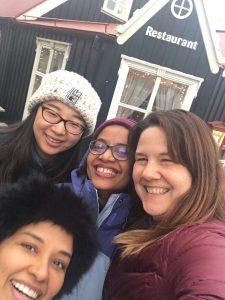 Stephanie with friends
